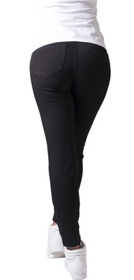 Urban Classics Stretch Biker mustat housut